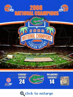 Gators 2008 National Champions Vertical Collage w/ National Champs Logo 8x10 Photo