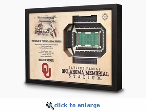 Gaylord Family Memorial Stadium 3-D Wall Art - Oklahoma Sooners Football