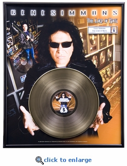 Gene Simmons - The Lord of Rock Framed Gold Record, LE 1,000