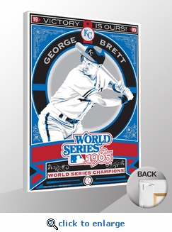 George Brett 1985 World Series Champions Sports Propaganda Canvas Print - Royals