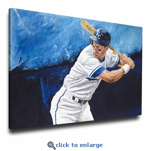 George Brett 12x18 Art Reproduction on Canvas by Justyn Farano - Royals