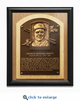 George Brett Baseball Hall of Fame Plaque Framed Print - Kansas City Royals