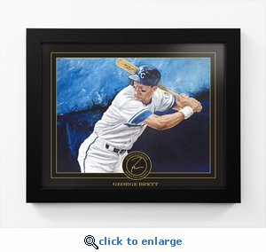 George Brett Framed Digital Print by Artist Justyn Farano - Royals