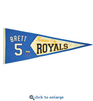 George Brett Legends Wool Pennant 13x 32 - Kansas City Royals