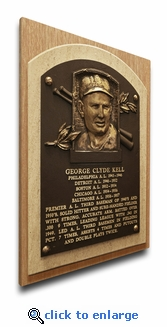 George Kell Baseball Hall of Fame Plaque on Canvas - Detroit Tigers