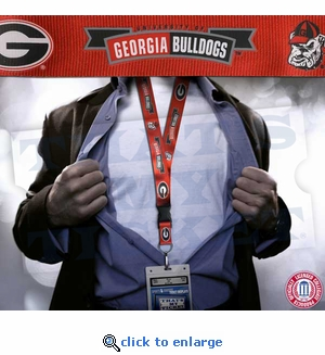 Georgia Bulldogs NCAA Lanyard Key Chain and Ticket Holder