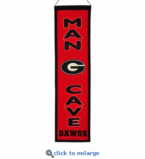 Georgia Man Cave Wool Banner (8 x 32)