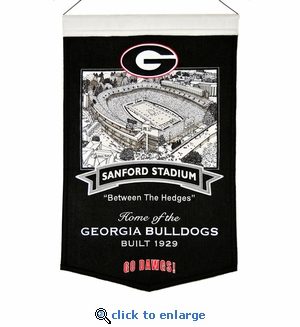 Georgia Stadium Wool Banner (20 x 15) - Georgia Stadium