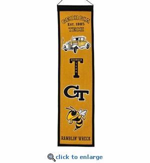 Georgia Tech Heritage Wool Banner (8 x 32)
