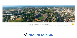 Georgia Tech Yellow Jackets - Campus Aerial - Panoramic Photo (13.5 x 40)