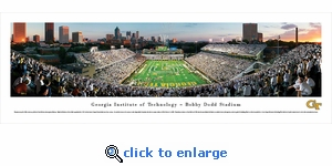 Georgia Tech Yellow Jackets Football - End Zone - Panoramic Photo (13.5 x 40)