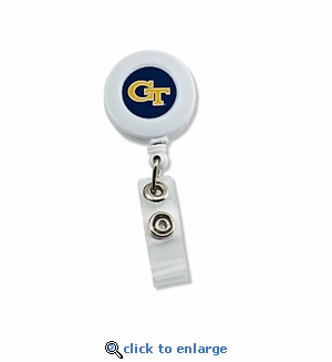 Georgia Tech Yellow jackets Retractable Ticket Badge Holder