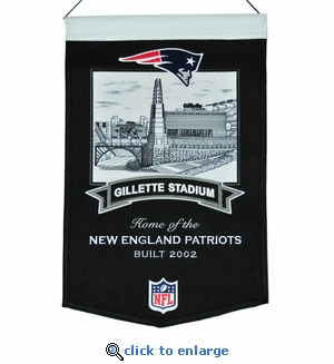 Gillette Stadium Wool Banner (20 x 15) - New England Patriots