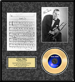 Glenn Miller - Moonlight Serenade Framed Gold Record, LE 1,000