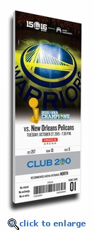 Golden State Warriors 2015 NBA Champions Banner Raising Canvas Mega Ticket