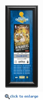 Golden State Warriors 2015 NBA Champions Framed Ticket Print