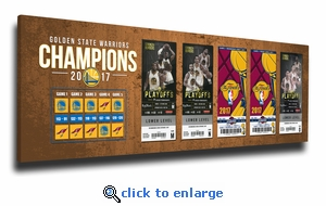 2017 NBA Champions Tickets to History Canvas Print - Golden State Warriors