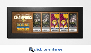 2017 NBA Champions Tickets to History Framed Print - Golden State Warriors