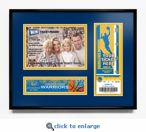 Golden State Warriors 5x7 Photo Ticket Frame