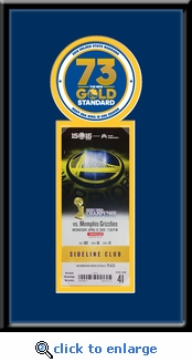 Golden State Warriors 73 Win Season Single�Ticket Frame