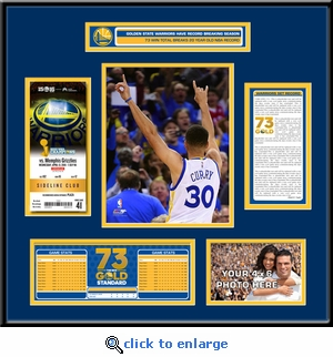Golden State Warriors 73 Win Season Ticket Frame