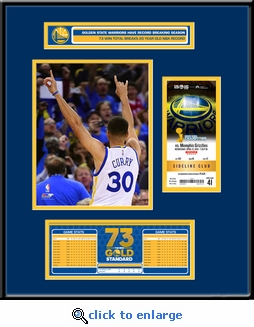 Golden State Warriors 73 Win Season�Ticket Frame Jr