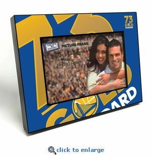 Golden State Warriors 73 Win Season Black Wood Edge 4x6 inch Picture Frame