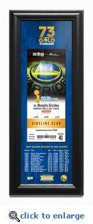Golden State Warriors 73rd Win Framed Ticket Print