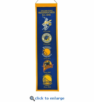 Golden State Warriors Heritage Wool Banner (8 x 32)