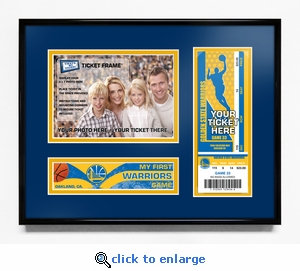 Golden State Warriors My First Game 5x7 Photo Ticket Frame