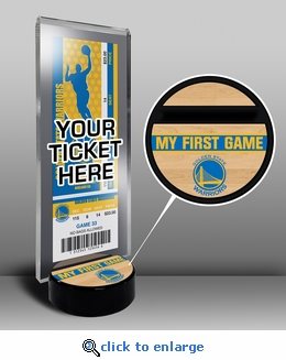 Golden State Warriors My First Game Ticket Display Stand