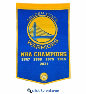 Golden State Warriors NBA Champions Dynasty Wool Banner (24 x 36)