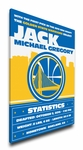 Golden State Warriors Personalized Canvas Birth Announcement - Baby Gift