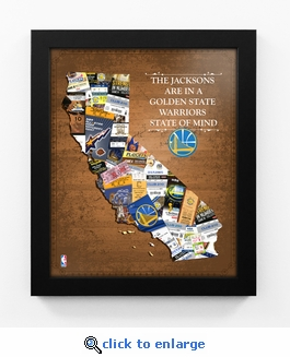 Golden State Warriors Personalized State of Mind Framed Print - California