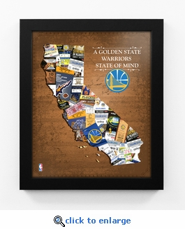 Golden State Warriors State of Mind Framed Print - California