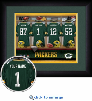 Green Bay Packers Personalized Locker Room Print