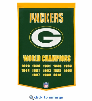 Green Bay Packers Super Bowl Dynasty Wool Banner (24 x 36)