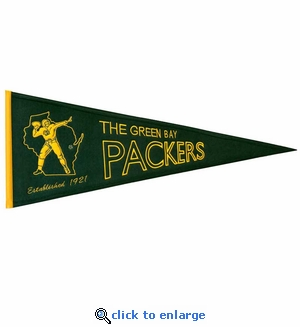 Green Bay Packers Throwback Wool Pennant (13 x 32)