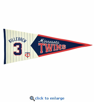 Harmon Killebrew Legends Wool Pennant 13x 32 - Minnesota Twins