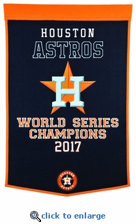 Houston Astros 2017 World Series Champions Dynasty Wool Banner (24 x 38)