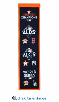 Houston Astros 2017 World Series Road to the Championship Wool Banner (8 x 32)