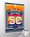 Houston Astros 50th Anniversary Sports Propaganda Canvas Print