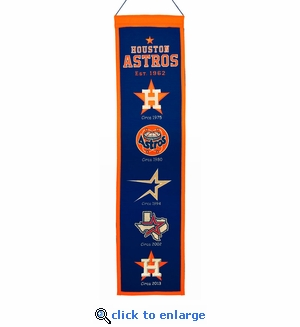 Houston Astros Heritage Wool Banner (8 x 32)