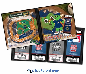 Houston Astros Mascot Ticket Album - Junction Jack
