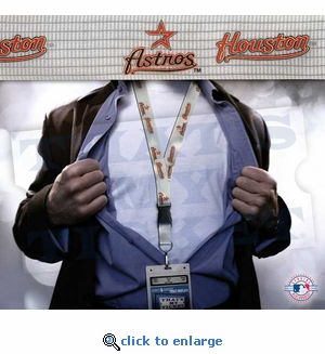 Houston Astros MLB Lanyard Key Chain and Ticket Holder