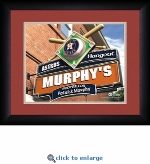 Houston Astros Personalized Sports Room / Pub Print