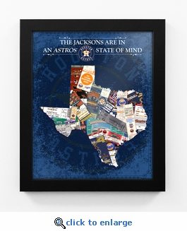 Houston Astros Personalized State of Mind Framed Print - Texas