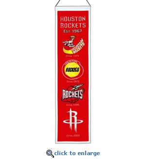 Houston Rockets Heritage Wool Banner (8 x 32)