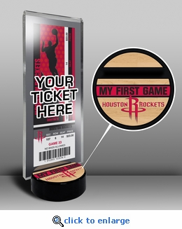 Houston Rockets My First Game Ticket Display Stand