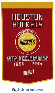 Houston Rockets NBA Champions Dynasty Wool Banner (24 x 36)